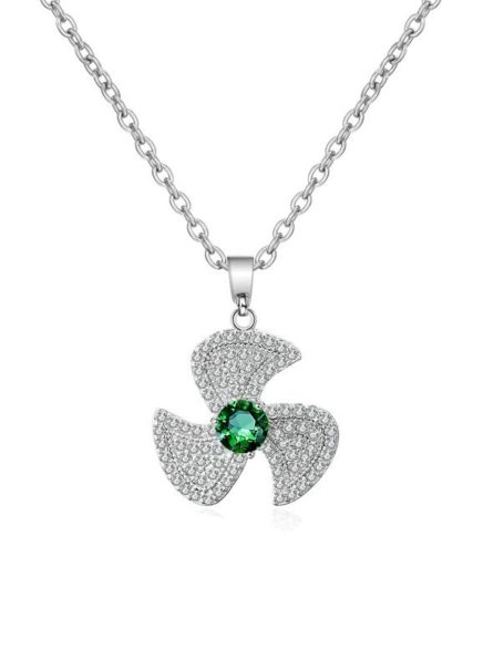 necklaces-crystal-fan-pendant-necklace-in-white-gold-emerald-green-1