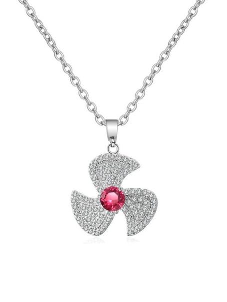 necklaces-crystal-fan-pendant-necklace-in-white-gold-red-1