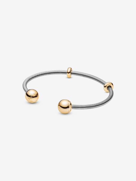 bracelets-moments-snake-chain-style-open-bangle-in-silver-and-18k-gold-1