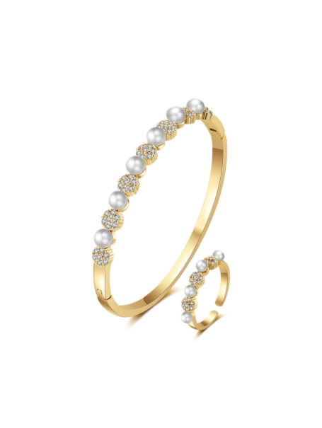 bracelets-floral-jewelled-pearl-bangle-and-open-ring-set-in-18k-gold-1