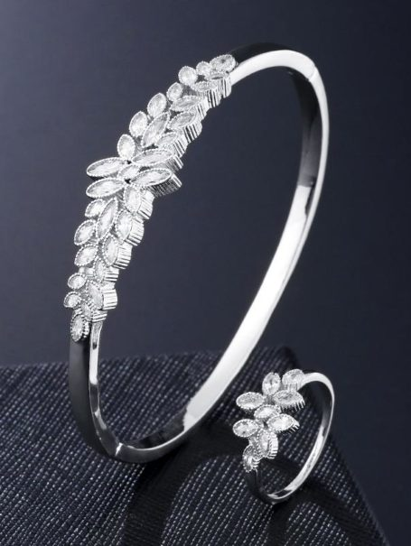 bracelets-jewelled-leaf-bangle-and-open-ring-set-in-white-gold-1